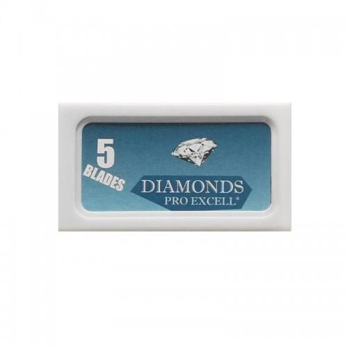 Skutimosi peiliukai Diamonds Pro Excel 5 vnt.