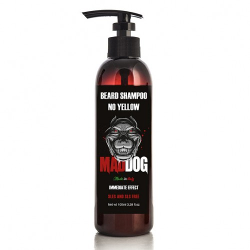 Mad Dog Barzdos ir plaukų šampūnas NO YELLOW 100ml