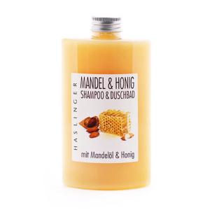 Šampūnas ir prausiklis Almond & Honey 200ml