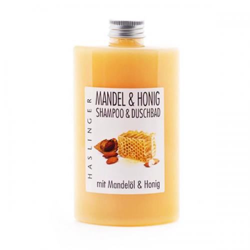 Haslinger Šampūnas ir prausiklis Almond & Honey 200ml