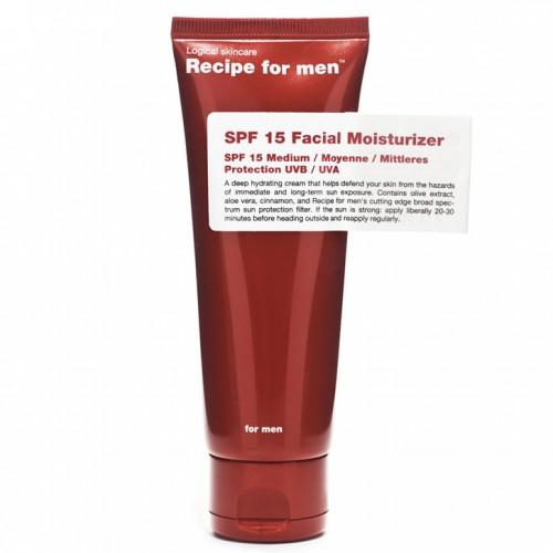 Recipe for Men Drėkinantis veido kremas SPF 15 75ml