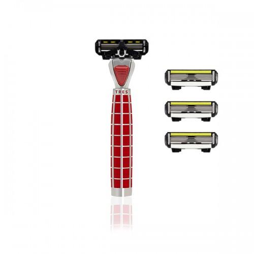 Shave-Lab Skustuvas TRES Fireglow rouge